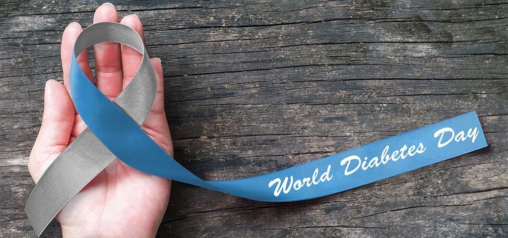 world diabetes day ribbon