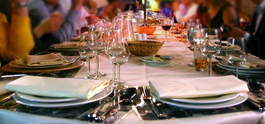 Dinner Table at Restaurant