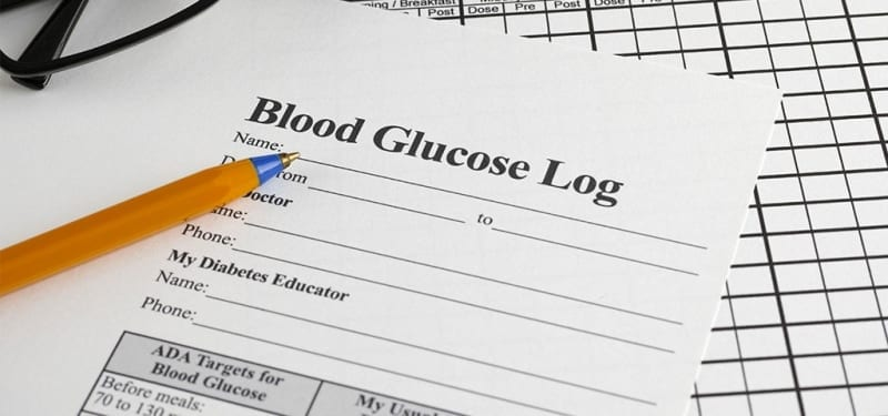 Sample of Blood Glucose Log