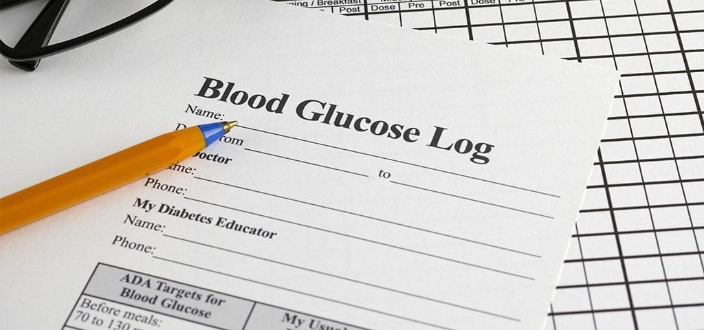 Sample of Blood Glucose Log