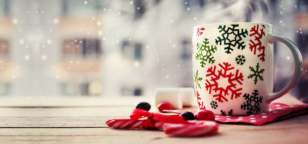 Holiday Mug with Candy Canes