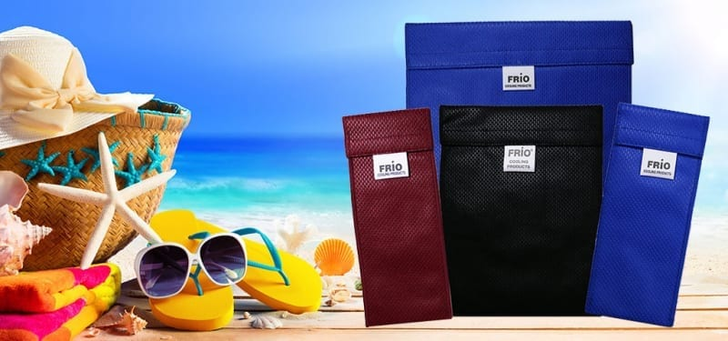 FRIO Insulin Wallets with Beach Background