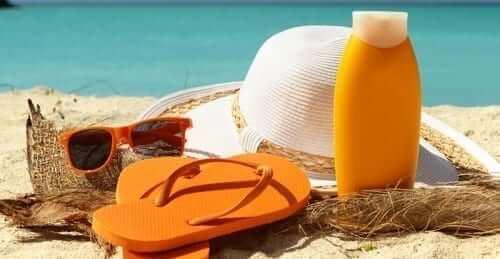 Beach Items on Beach