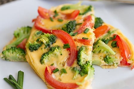 Diabetes friendly Broccoli and Tomato Omelette