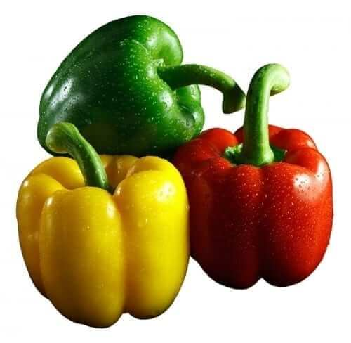 Green, Yellow and Red Bell Peppers