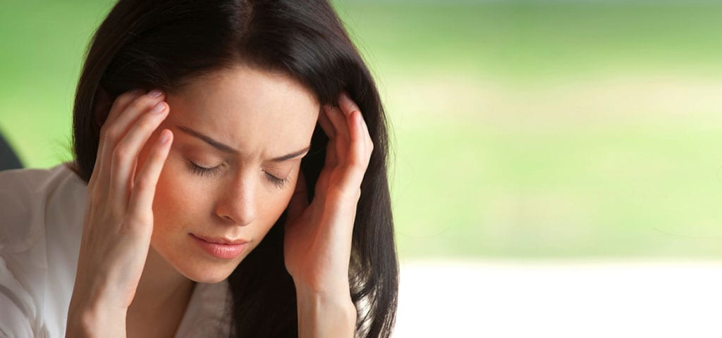 Woman feeling Stressed