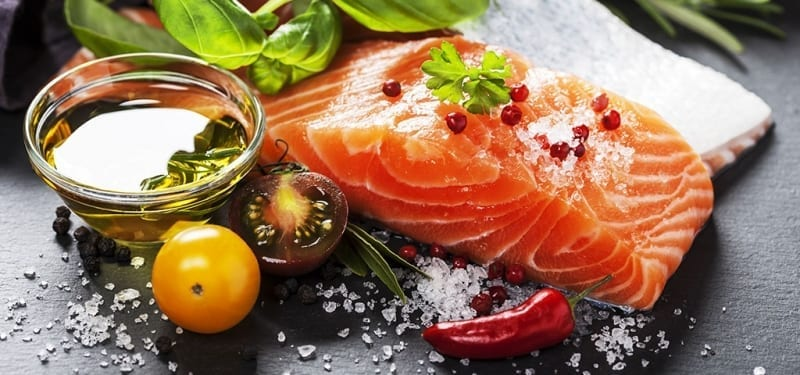 Salmon Preparation with vegetables