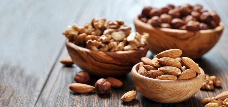 Almonds Pecans and Walnuts