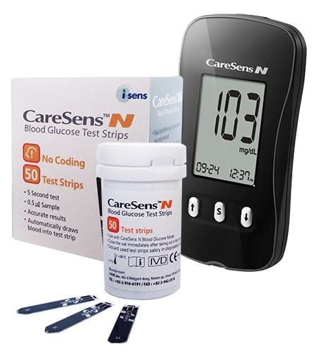 CareSens N Blood Glucose Monitor and Test Strips
