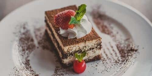 Chocolate Pudding Cake with Fruit