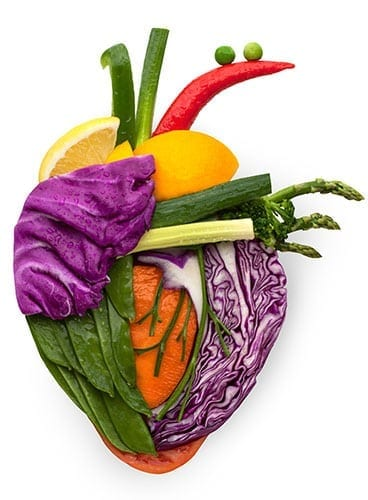 Heart made of vegetables