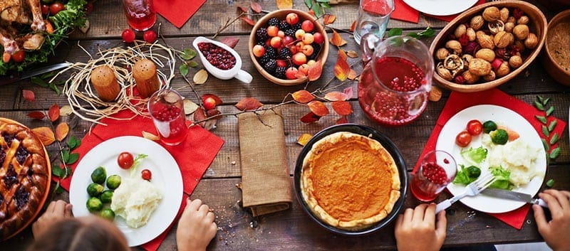 Holiday Food Table - diabetes management