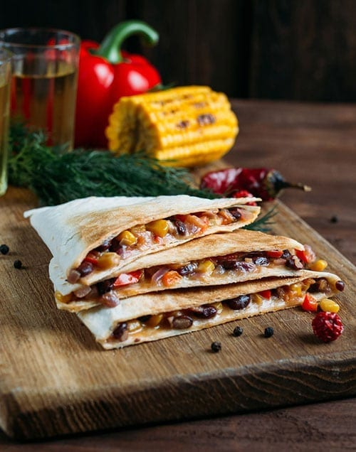 Indian Summer Recipe - Vegetarian Quesadillas