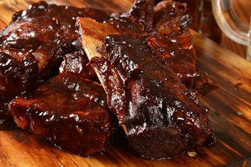 Grilling Barbecue Ribs