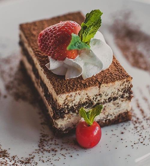 Tiramisu Cake with Fruit