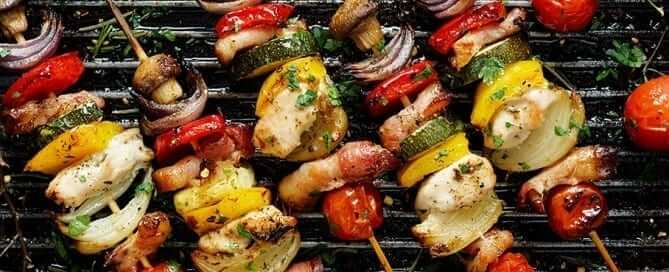 Healthy Grilled Vegetables and Chicken