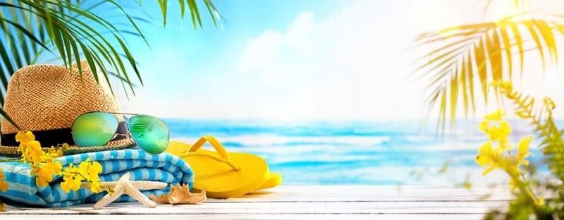 Summertime With Summer Stuff on a Beach