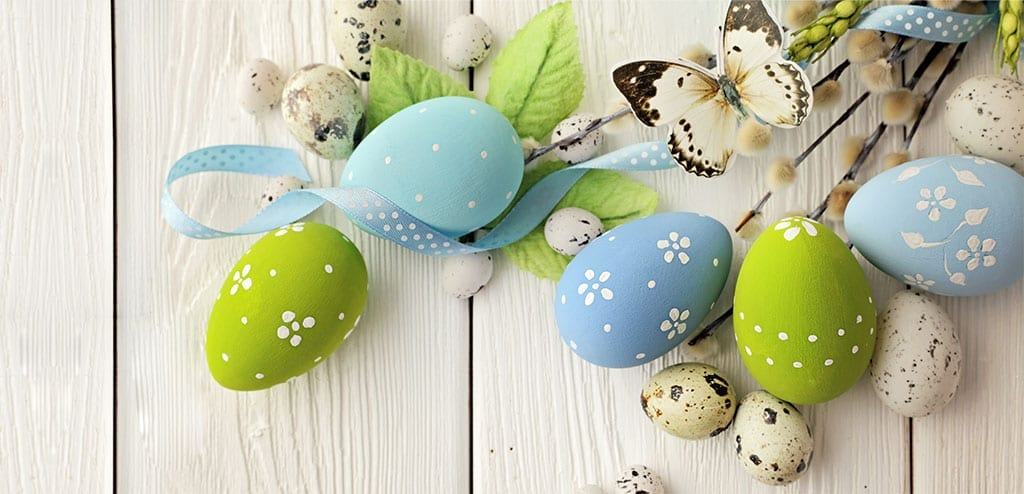 Easter Eggs with a butterfly