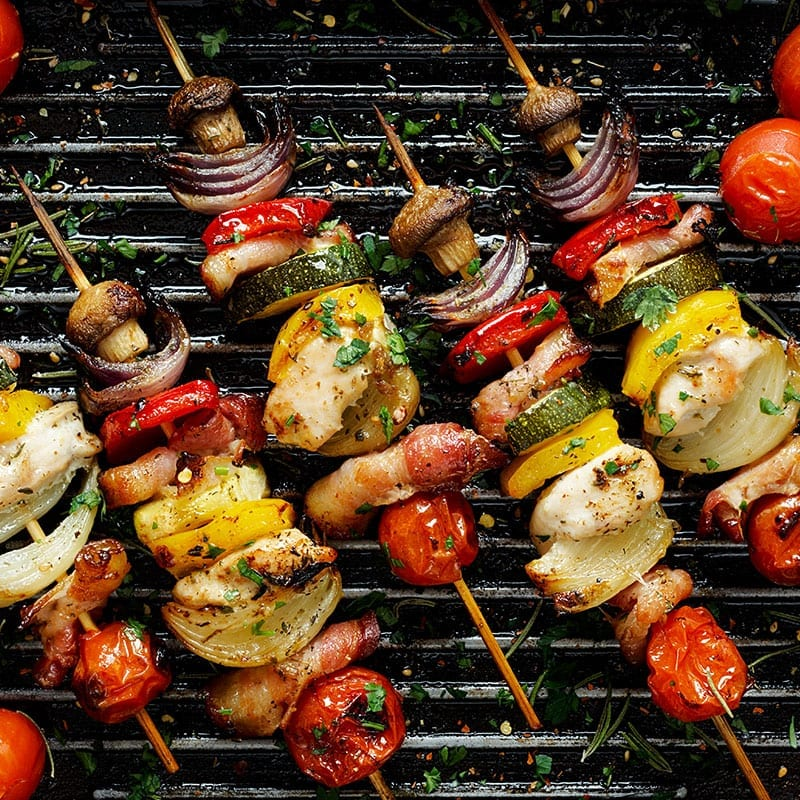 Summer Food Tips - Grilled chicken and vegetables