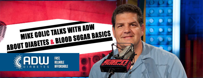 Mike Golic Talks with ADW about Diabetes & Blood Sugar Basics