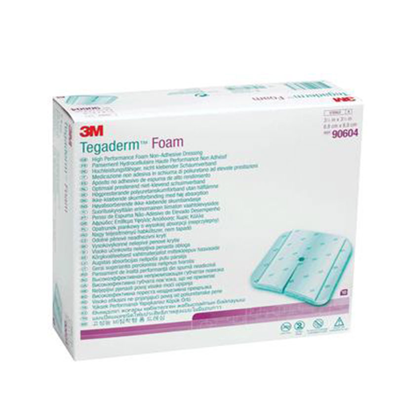3M Foam Non Adhesive Dressing 2in x 2in Box of 10