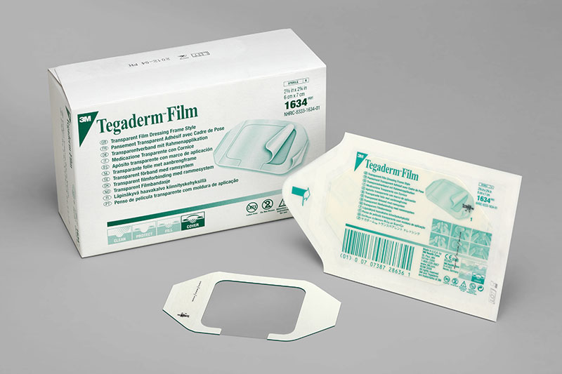 3M Tegaderm Transparent Wound Dressing  2.38in x 2.75in - Box Of 100