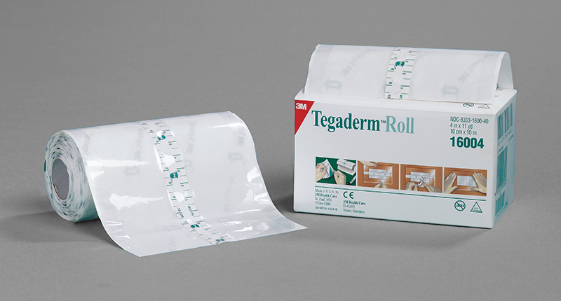3M Tegaderm Transparent Film Roll 4in x 11 Yards - Sold By Case 4/Each
