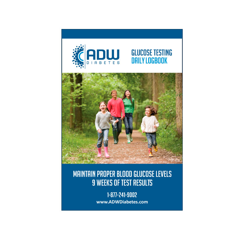 ADW Daily Diabetic Log Book - Self Testing Journal