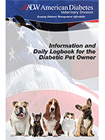 ADW Veterinarian's Pet Diabetes Log Book