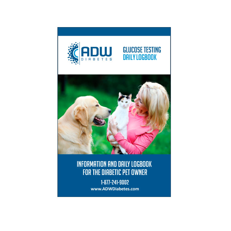 ADW Pet Diabetic Log Book - Self Testing Journal