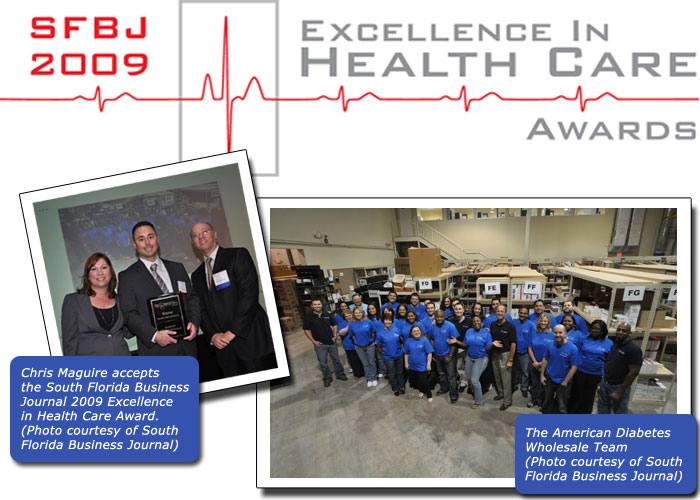 ADW Diabetes Wins South Florida Business Journal 2009 Excellence in Health Care Award