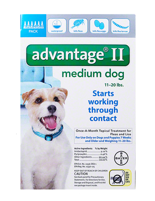 Advantage II For Medium Dogs 11-20 lbs Teal 6PK - 6 Month $ 59.20