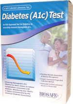 BioSafe Diabetes A1C Test Kit for HbA1c Lab Testing