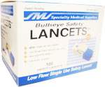 Bullseye Safety Lancets (Normal Flow Single Use) - 23G - Box of 100 $ 13.79