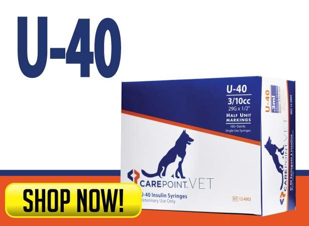 CarePoint Vet U-40 Syringes