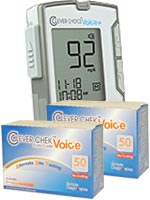 Clever Choice Auto-Code Voice+ Blood Glucose Monitor w/100 Strips $ 33.99