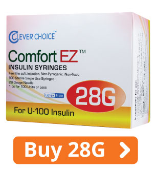 ComfortEZ 28G Insulin Syringes