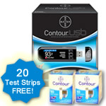 Bayer Contour USB FREE Test Strips