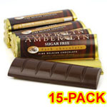 Amber Lyn Sugar Free Dark Chocolate Candy Bar - 15/pk $ 26.95