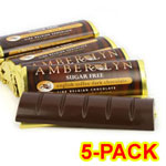 Amber Lyn Sugar Free Dark Chocolate English Toffee Candy Bar - 5/pk $ 9.49