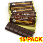 Amber Lyn Sugar Free Dark Chocolate Mint Candy Bar - 15/pk $ 26.95