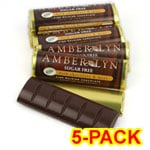 Amber Lyn Sugar Free Dark Chocolate Mint Candy Bar - 5/pk $ 9.49