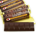 Amber Lyn Sugar Free Dark Chocolate Raspberry Candy Bar - Each $ 1.99