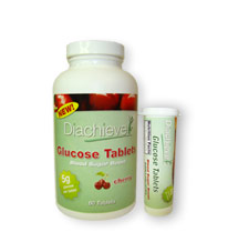 Diachieve Glucose Tablets 60/bottle Cherry with FREE Tube