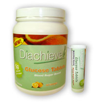 Diachieve Glucose Tablets 180/bottle Orange with FREE Tube