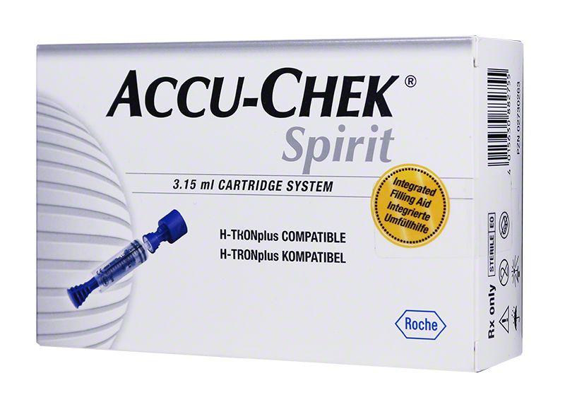 Disetronic Accu-Chek Spirit 3.15mL Plastic Cartridge System, Box of 5 $ 20.99