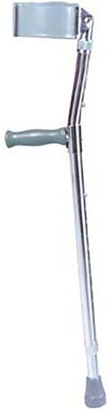 Drive Medical Lightweight Walking Forearm Crutches Chrome - Adult