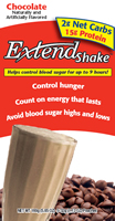 Click for Extend Shakes Chocolate nutrition info
