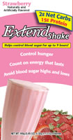 Click for Extend Shakes Strawberry nutrition info