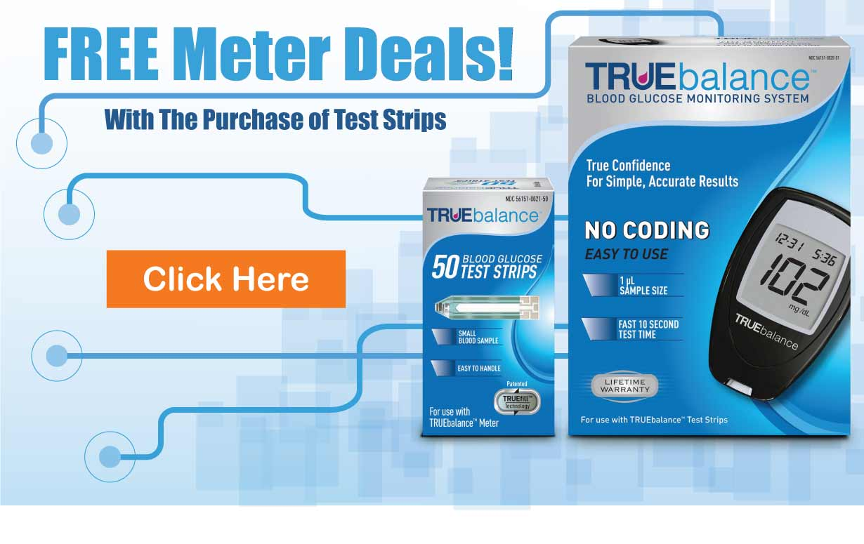 Diabetic testing strip for free